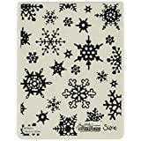 Sizzix 662432 Texture Fades Embossing Folder, Simple Snowflakes by Tim Holtz, Multi