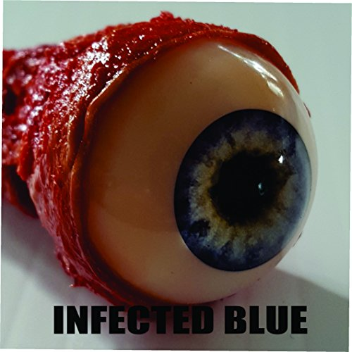Bloody Realistic Ripped Out Eyeball Halloween Prop - Infected Zombie eye - Many styles (Infected Blue) ()