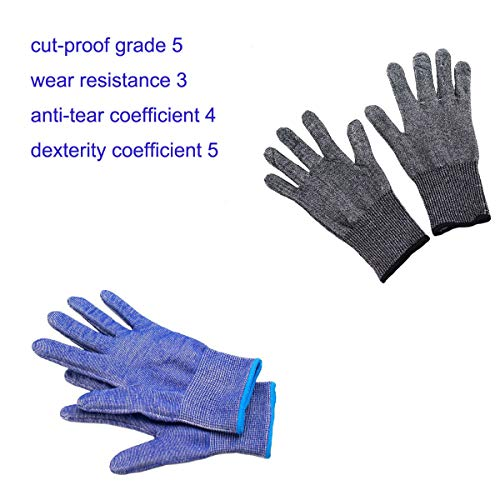 LXMART Anti-Cutting Gloves Stainless Steel Wire...