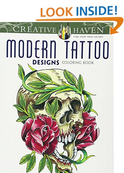 Coloring Book Just Add Water Tattoo Art Amazon