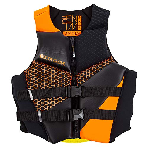 Body Glove Men's Phantom Uscga Life Vest, Large, Orange/Black