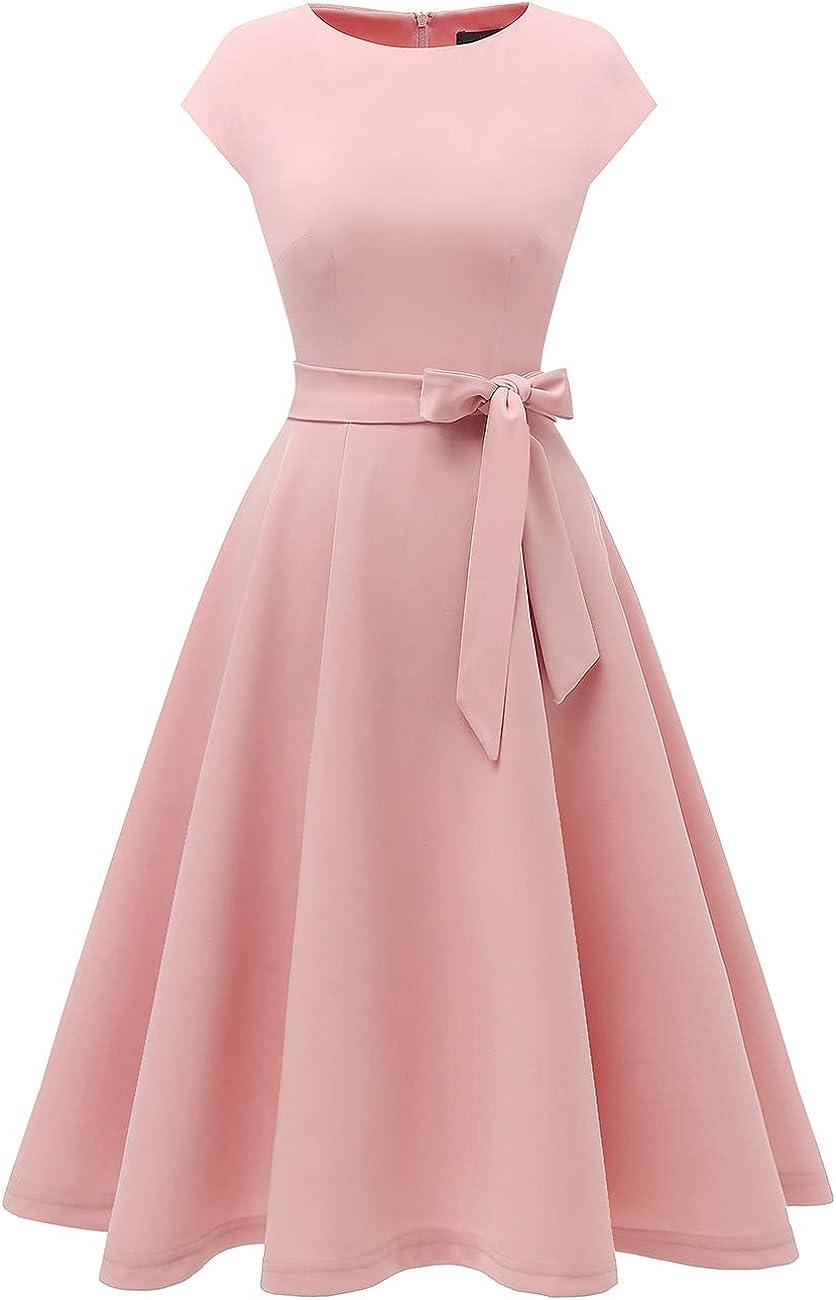 DRESSTELLS Fall Dresses for Women Casual Swing A-Line Tea Dress Winter Cocktail Prom Dress