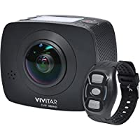 Vivitar DVR988HD 360 VR Wi-Fi Action Video Camera Camcorder (Black)