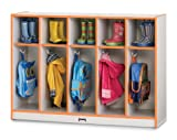 Rainbow Accents 5 Section Toddler Coat Locker (Teal)