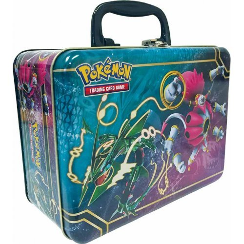 Pokemon TCG Collector Chest Lunchbox Tin 2015 Sealed Featuring Rayquaza & Hoopa EX (Treasure Chest Card Box)