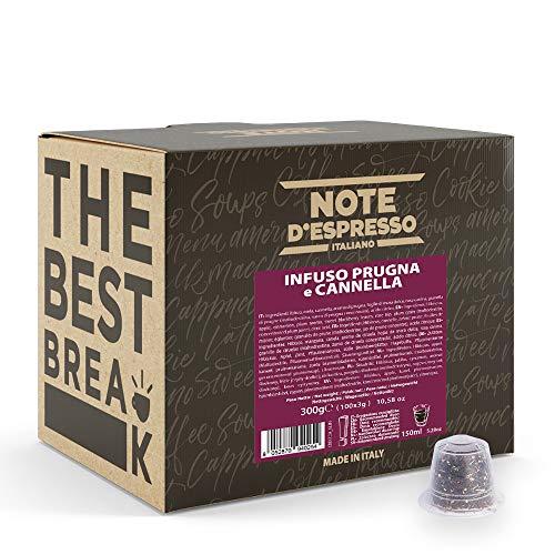 Note d'Espresso - Ciruela y Canela - Cápsulas de Tisana compatibles con Cafeteras NESPRESSO* - 100 caps