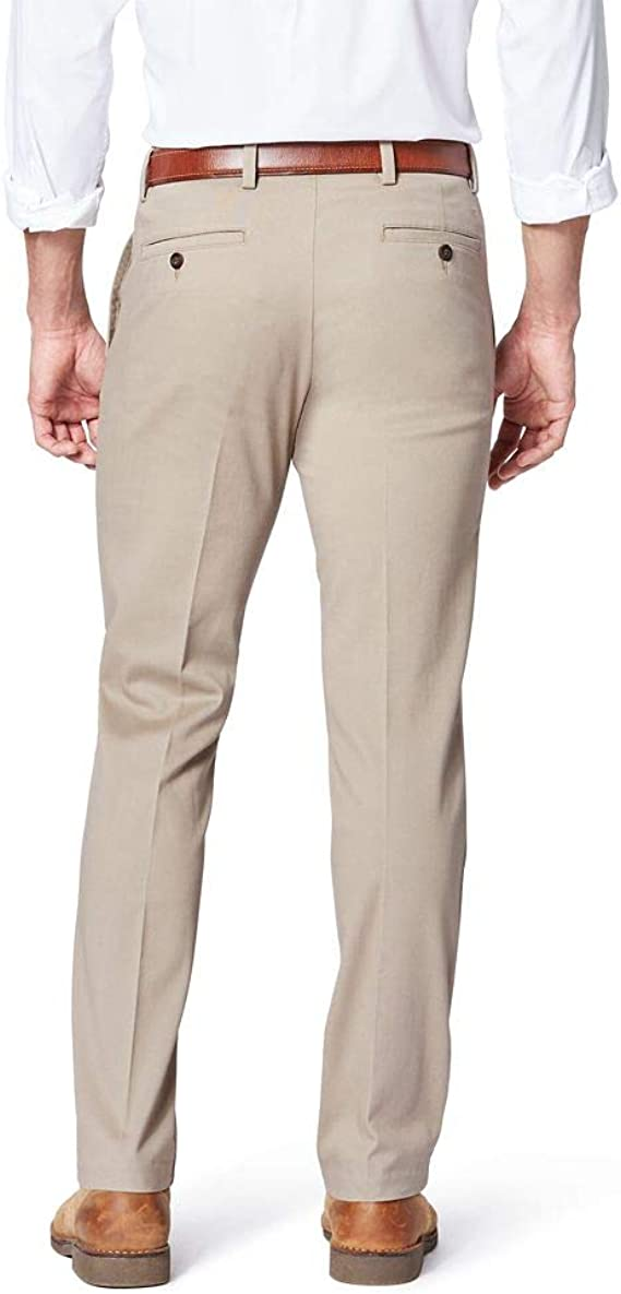 Dockers Signature Khaki Pants Classic Stretch Best Pressed Individual Fit Black
