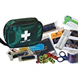 Children's First Aid Kit (50Pcs) - Includes Antiseptic Cream & Eye Wash
