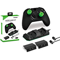 Super Game kit Game set base 2 pcs battery one headset 1pcs silicone case 4 Silicon Thumbstick Cover for XBOX ONE X,XBOX ONE S