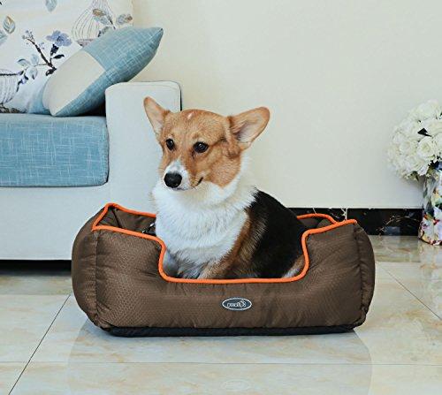 Pecute Cama de Perros y Gatos Alfombra para Mascotas Tela Impermeable Desmontable y Extraíble (M, marrón): Amazon.es: Productos para mascotas