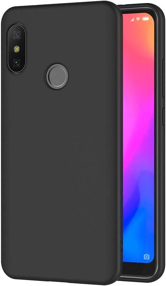 AICEK Funda Xiaomi Mi A2 Lite, Negro Silicona Fundas para Xiaomi Mi A2 Lite Carcasa Xiaomi Mi A2 Lite Negro Silicona Funda Case (5,84 Pulgadas)