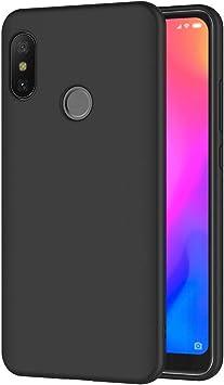 AICEK Funda Xiaomi Mi A2 Lite, Negro Silicona Fundas para ...