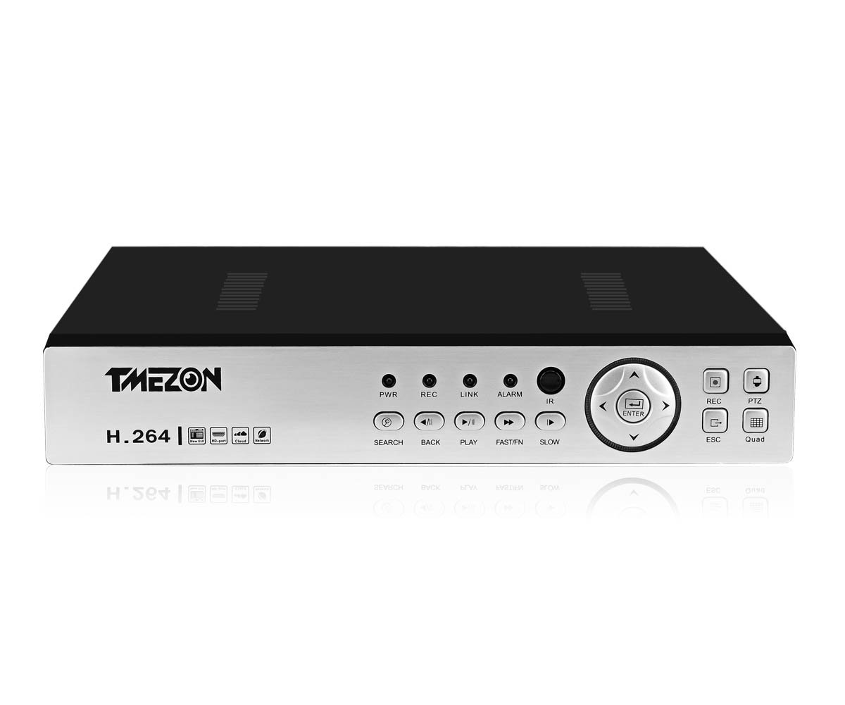TMEZON 16 Channels Real 1080P Input HD-AHD/TVI/CVI/960H/NVR DVR Hybrid DVR CCTV 5 IN 1 with Mobile Motion Detection Digital Video Recorder Camera System NO HDD