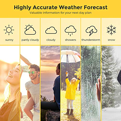Wireless Weather Station, Houzetek S657 Digital Indoor Outdoor Thermometer  Color Forecast Station Home Temperature and Humidity Monitor, Large Display
