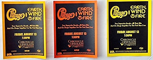 Chicago with Earth Wind & Fire Set of Three (3) Original Handbill's Flyers