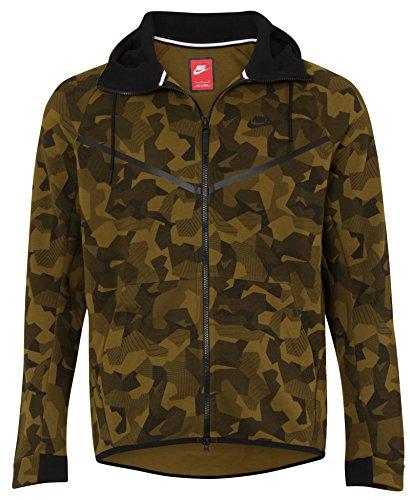 Nike Tech Fleece Windrunner Green Mens Hooded Jacket / Hoodie Size M