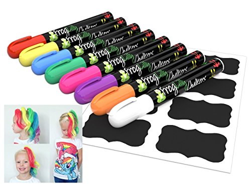 chalkboard-markers-liquid-chalk-window-paint-and-temporary-hair-color-pens-w-32-reusable-labels-and-