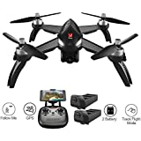 MOSTOP MJX B5W Bugs 5 W RC Quadcopter Drone 1080P 5G WiFi Camera Live Video 2.4GHz Remote Control Aircraft 6-Axis Gyro FPV Drone with GPS Return Home, Altitude Hold, Follow Me, 2 Battery (Black)