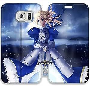 Elegant Printing Fate Stay Night-25 iPhone Samsung Galaxy S6 Leather Flip Case