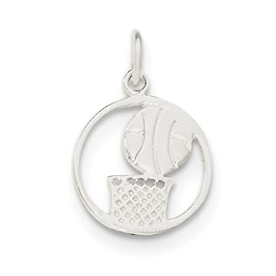925 Sterling Silver Basketball Player Casted Polished Charm Pendant Fine Necklaces & Pendants Fine Jewelry