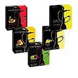 250grams / 5 Mix 50gram Packs Hydro Herbal Hookah Flavor, Mango/Tropical Storm, Mixedfruit/Hurricane, Double Apple/LesDeux, Pineapple/Aurora, Banana/Avalanche - 0% Nicotine, 0% Tar, Non Tobacco Molasses
