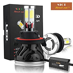 Amazon.com: Street Cat H13/9008 (Hi/Lo) LED Headlight Bulbs ...
