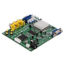 Fosa Relay Module Board CGA/EGA/YUV/RGB to VGA Arcade Game HD Video Converter Adapter Board for Arcade Jamma Game Monitor to LCD CRT PDP Monitor