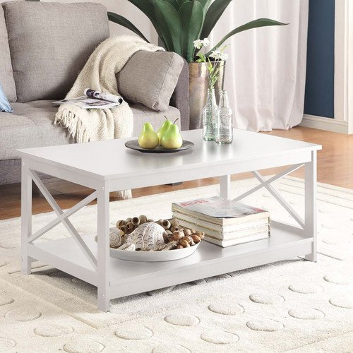 Washington Coffee Table, White by Breakwater Bay