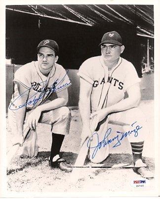 Autographed Ralph Kiner & Johnny Mize Photo Psa