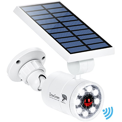 Solar Motion Sensor Light Outdoor Aluminum,1400-Lumens 9Watt