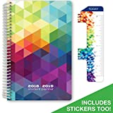 Dated Middle School or High School Planner for Academic Year 2017-2018 (Block Style - 5.5