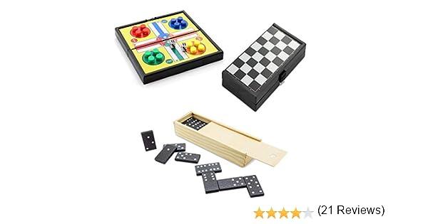 Partituki Pack Juegos de Mesa Clásicos Incluye: Mini Parchís, Mini Damas y Dominó: Amazon.es: Juguetes y juegos
