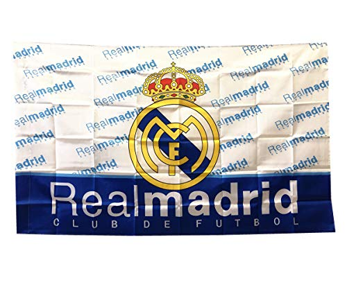UHBHEA Real Madrid Soccer Flag - FC Club Banner for Wall Patio Garden Lawn Outdoor Nylon Flag White/Home 5935IN