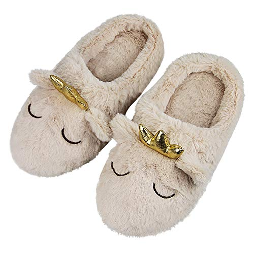 Womens Indoor Warm Fleece Slippers, Ladies Girls Winter Ultra Soft Cozy Thermal Non-slip Footwear Clog Scuff Fuzzy Plush Cotton Mules Home Dormitory Bedroom Floor Slip-on Shoes Ankle Boots
