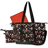 Disney Deluxe Rip Stop Diaper Tote Bag, Mickey and Minnie Mouse