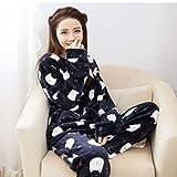 Pajamas Suit Flannel Plush Robe Women Warm And Comfortable Home Service Pajama , m , C