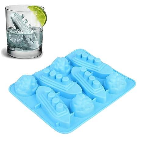 1 molde de silicona para cubitos de hielo de Titanic para hacer jabones de chocolate