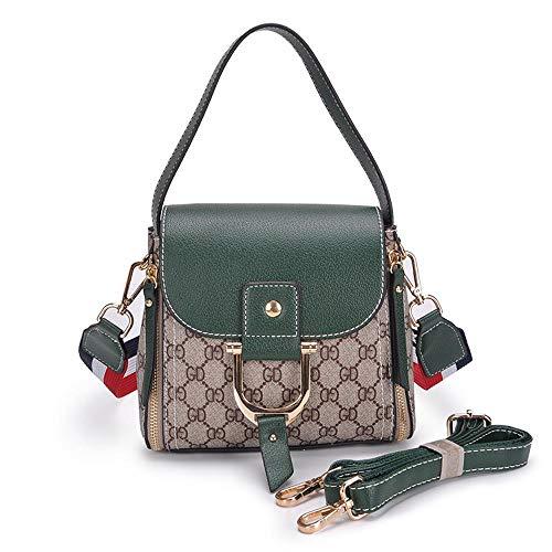 Hongge Shoulder Shoulder Lady Ladies Bag PU Bag Handbag Messenger Side Small Bag Wide Fashion B Single Strap rvxUr8
