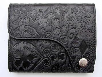 9bb1e4976c922 Chiemsee Plusminus Echt Leder Wallet Geldbörse schwarz Prägemuster ...