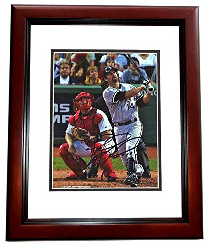 Signed Paul Konerko Picture - 8x10 inch MAHOGANY CUSTOM FRAME 2005 World Series Champion Guaranteed to pass or JSA - PSA/DNA (Paul Konerko Hand Signed)