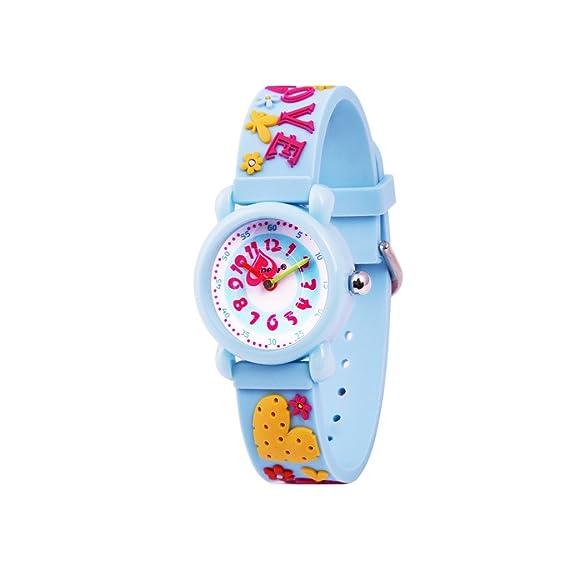 WOLFTEETH Analog Muchachas Toddlers School Day Reloj De Muñeca con Segunda Mano Cute Pequeño Ronda Dial