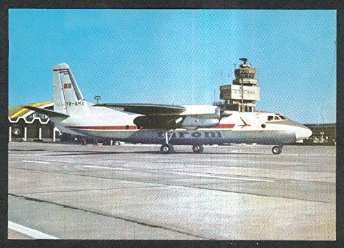 TAROM Romanian Air Transport An-24 Turbo-Jet postcard -