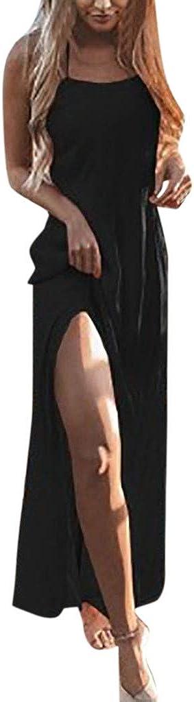 iHENGH Damen Fr/ühling Sommer Rock Bequem L/ässig Mode Kleider Frauen R/öcke Womens Holiday Lace Up Damen Sommer Pomisi r/ückenfreies Beach Party Kleid