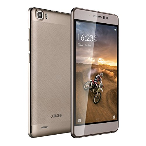 5.5 Unlocked Smartphones 8GB Dual Sim Quad Core Android 5.1 Cell Phone Gold by TIMMY