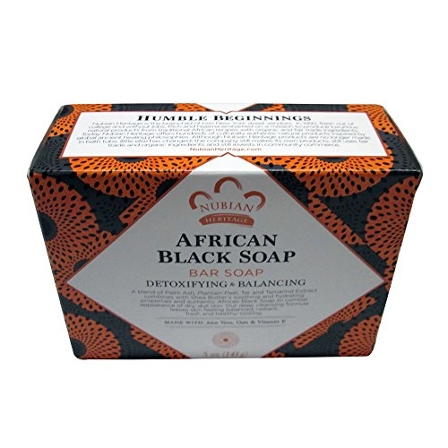 Price comparison product image Nubian African Black Soap 5 Ounce (pack of 6)
