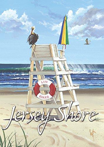 Toland Home Garden 1110963 Pelican Post Jersey Shore Flag, Garden-Small-12.5x18-Inch -