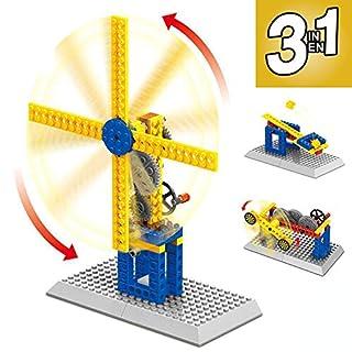 Mechanical Gear Technic Building Blocks Engineering Children's Science Educational STEM Toys,3 in 1