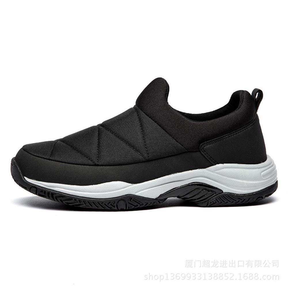Qiusa Herren Slip on Breathable Non Driving Schuhe weiche Sohle Non Breathable Slip beiläufige Breathable Loafers (Farbe : Weiß, Größe : EU 39) Schwarz 838b9b
