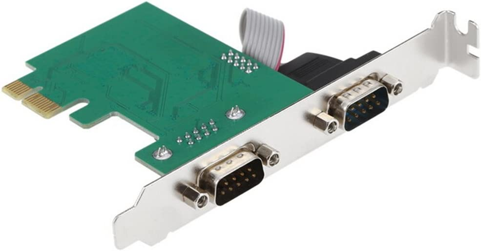 PCI Express PCI-E to 2-Serial DB9 RS232 RS-232 Com TX Expansion Card