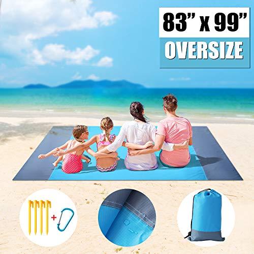 🥇 RESUKT Beach Blanket Sandproof